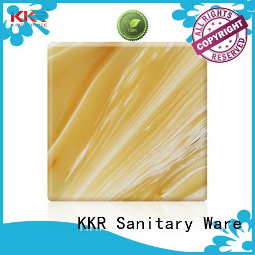 KingKonree yellow translucent stone panels sink for hotel