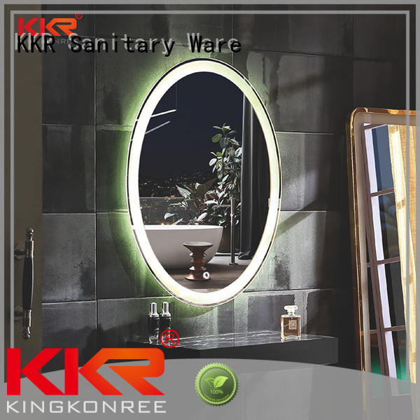 led light bathroom mirrors contemporary sanitary ware for toilet KingKonree