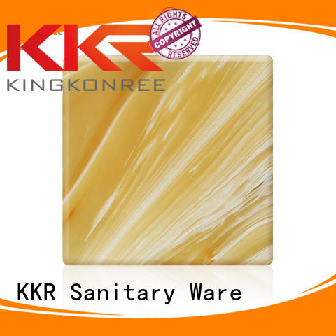 KingKonree Brand translucent artificial acrylic translucent solid surface solid