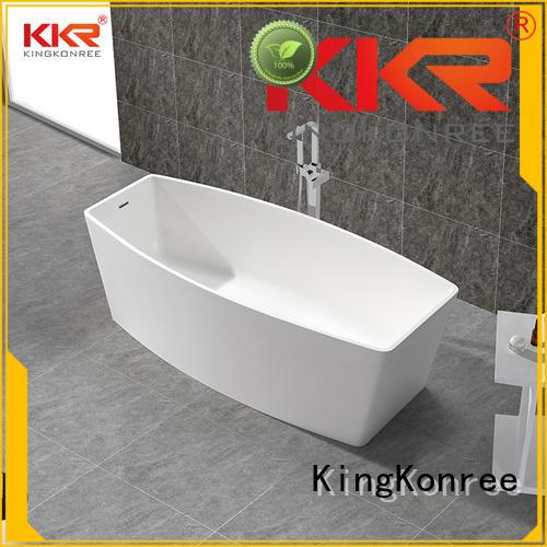 Wholesale resin soaking solid surface bathtub KingKonree Brand