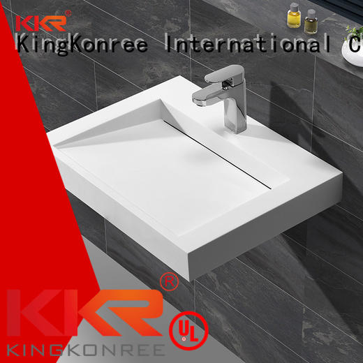 acrylic square wall-hung KingKonree Brand wall mounted wash basins
