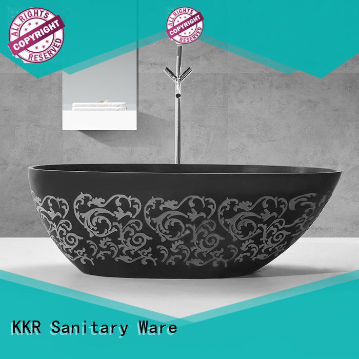 overflow rectangular freestanding tub at discount for shower room