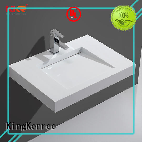 KingKonree wall hung cloakroom basin sink for home