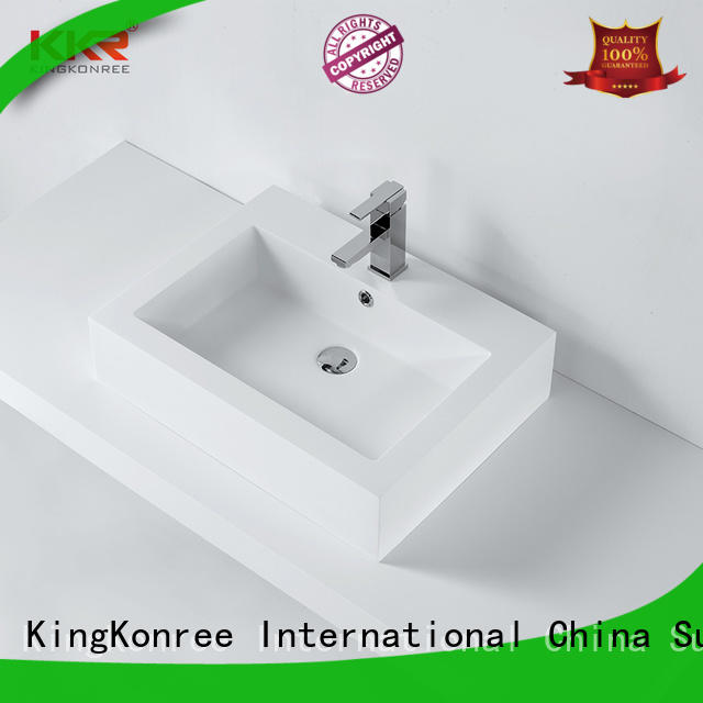 KingKonree solid surface basin highly-rated for hotel