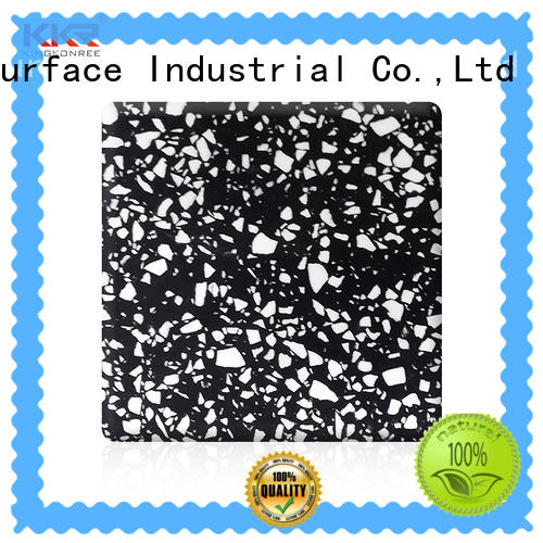30mm acrylic solid surface countertops black for room KingKonree