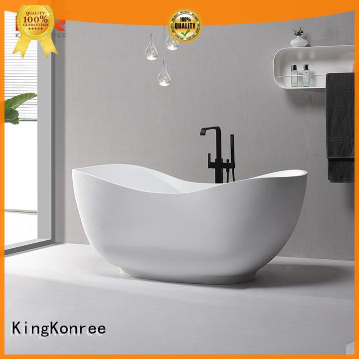 white bathroom stand alone tub black for hotel KingKonree