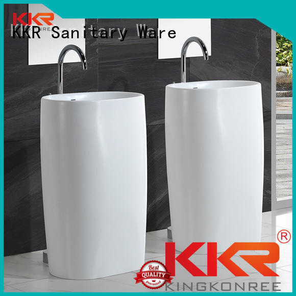 bathroom free standing basins square artificial marble KingKonree Brand freestanding basin