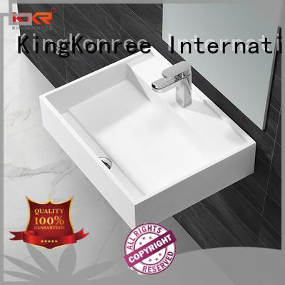 KingKonree mounted wall hung cloakroom basin design for hotel