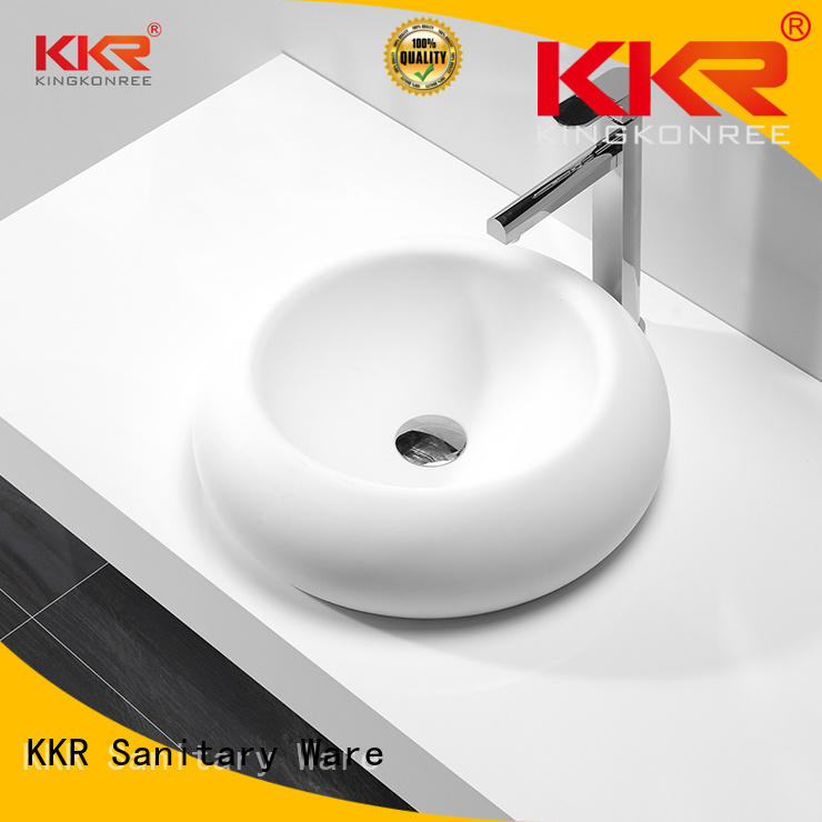 artificial solid selling KingKonree Brand above counter basins supplier