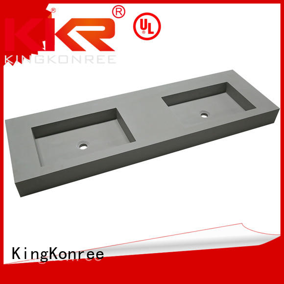 acrylic mounted slope artificial KingKonree Brand wall mounted wash basins supplier