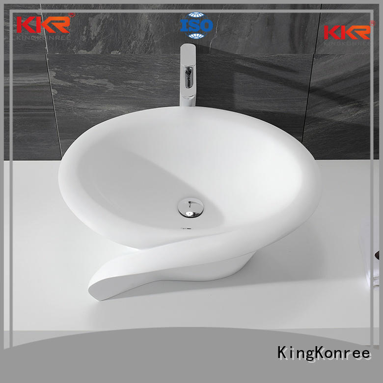 KingKonree Brand acyrlic sanitary acrylic oval above counter basin basin