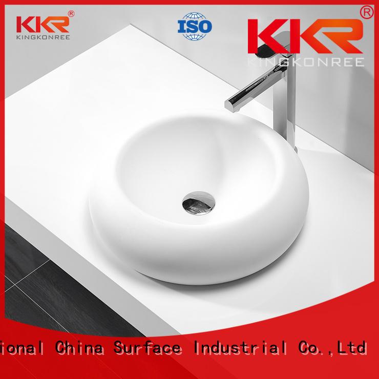 KingKonree standard above counter basins supplier for home