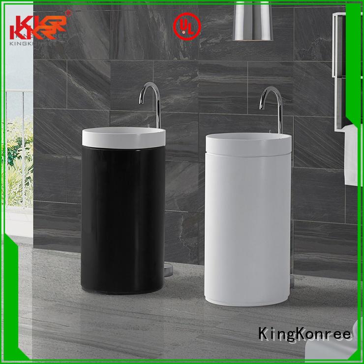 stone bathroom free standing basins pedestal KingKonree company