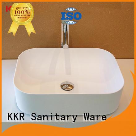 black top mount bathroom sink manufacturer for restaurant KingKonree