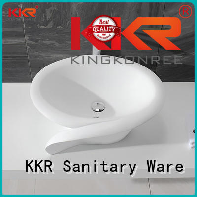KingKonree Brand white oval above counter basin counter supplier