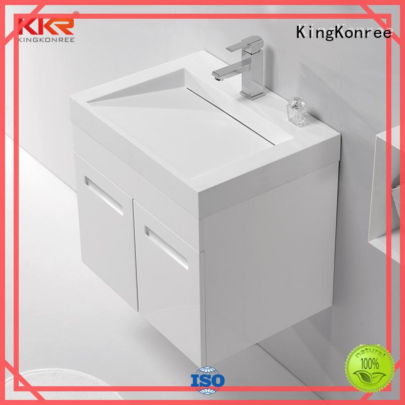 KingKonree white wash basin with cabinet online sinks for motel