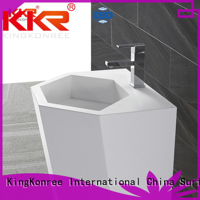 solid free standing sink bowl customized for bathroom KingKonree