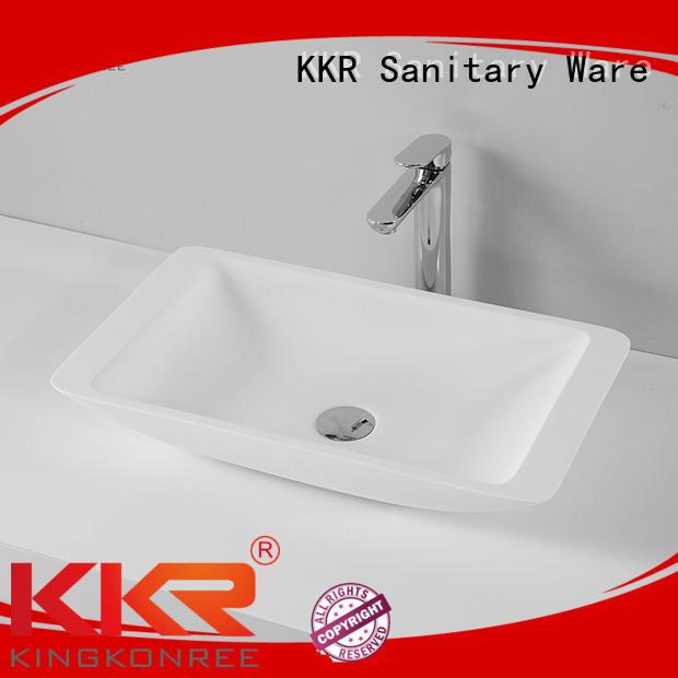 oval above counter basin bathroom artificial surface Warranty KingKonree