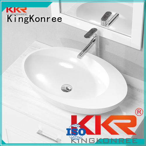 oval above counter basin rectangle above counter basins KingKonree Brand