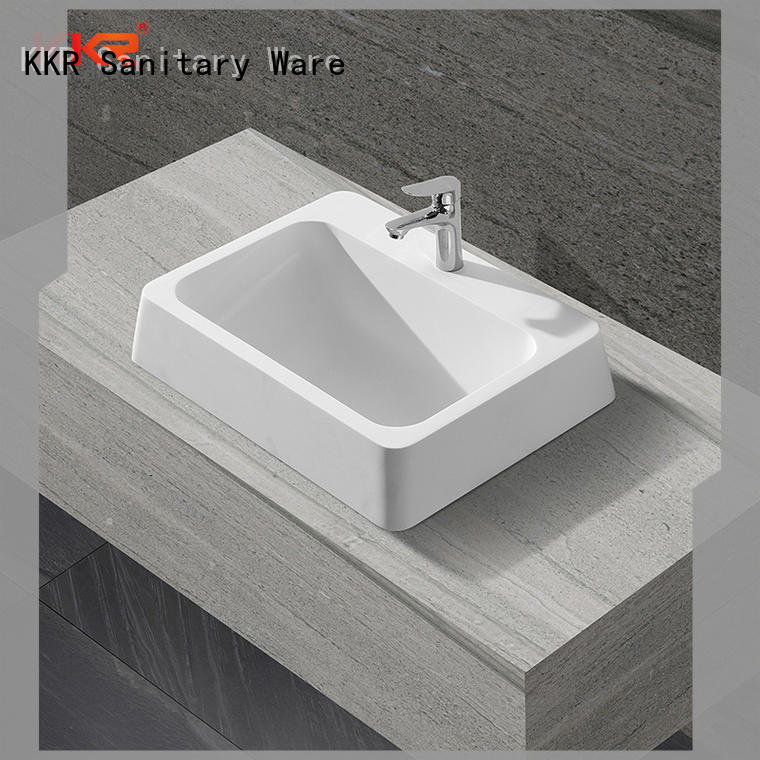 high-quality solid surface basin on-sale for bathroom KingKonree