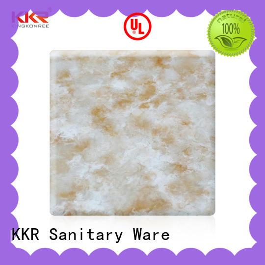 artificial solid surface countertop sheets design for indoors KingKonree