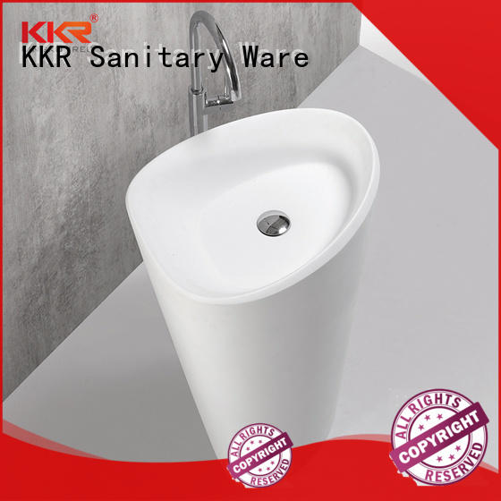 KingKonree rectangle freestanding pedestal sink manufacturer for hotel