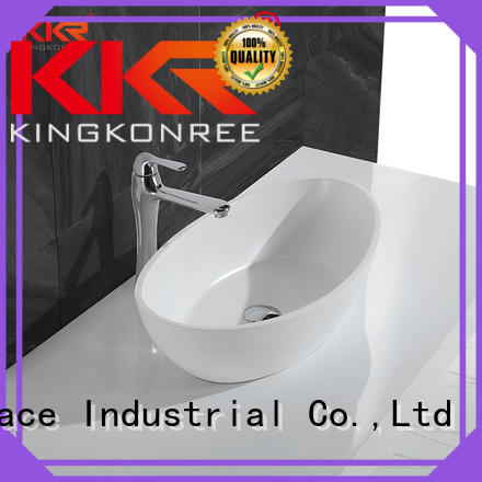 KingKonree Brand white ware solid custom oval above counter basin