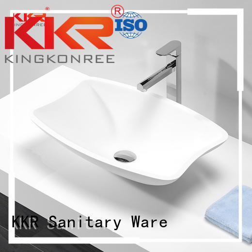 KingKonree Brand solid oval above counter basin above supplier