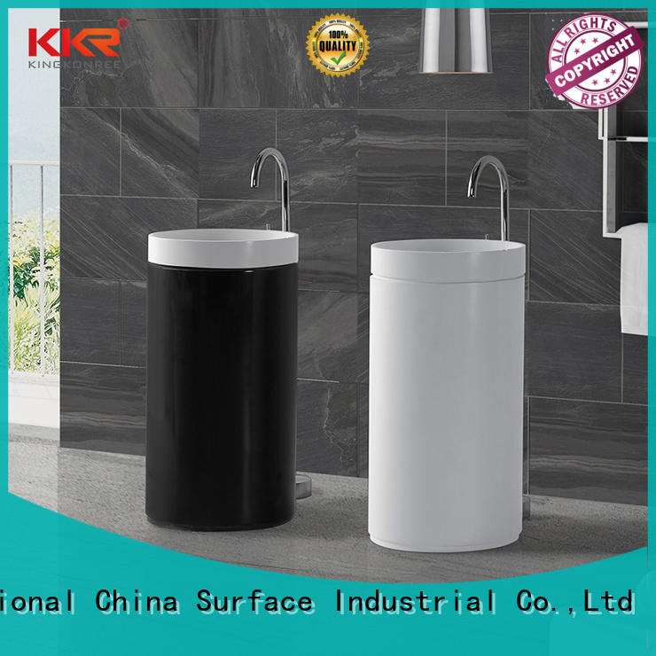 KingKonree pan shape freestanding vanity basins resin for home