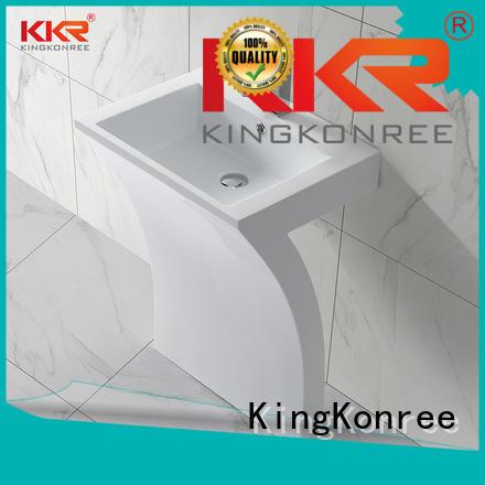 KingKonree Brand solid square freestanding basin marble factory