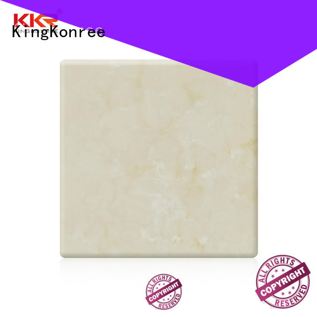 KingKonree artificial solid surface sheets for sale from China for indoors
