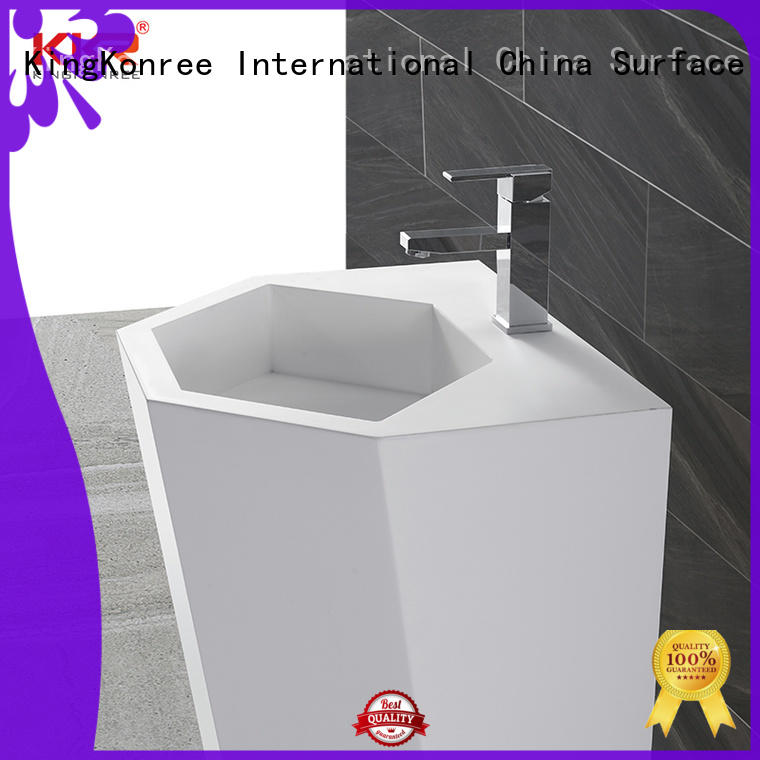 black freestanding pedestal sink supplier for hotel