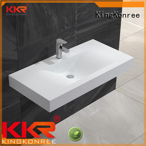 white wall hung basin supplier for bathroom