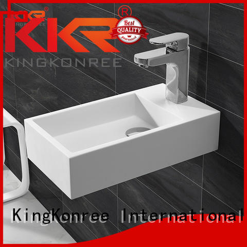 KingKonree Brand white square ware wall mounted wash basins