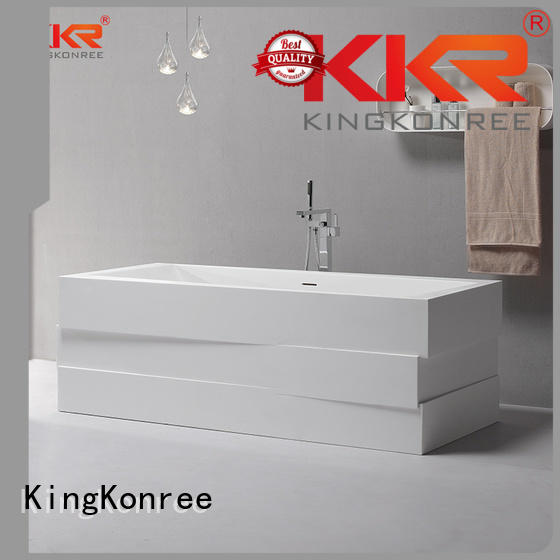 Wholesale sanitary storage solid surface bathtub KingKonree Brand