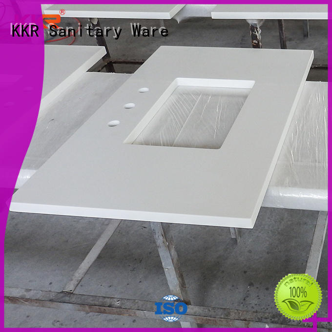 KingKonree integrated white solid surface countertops for home