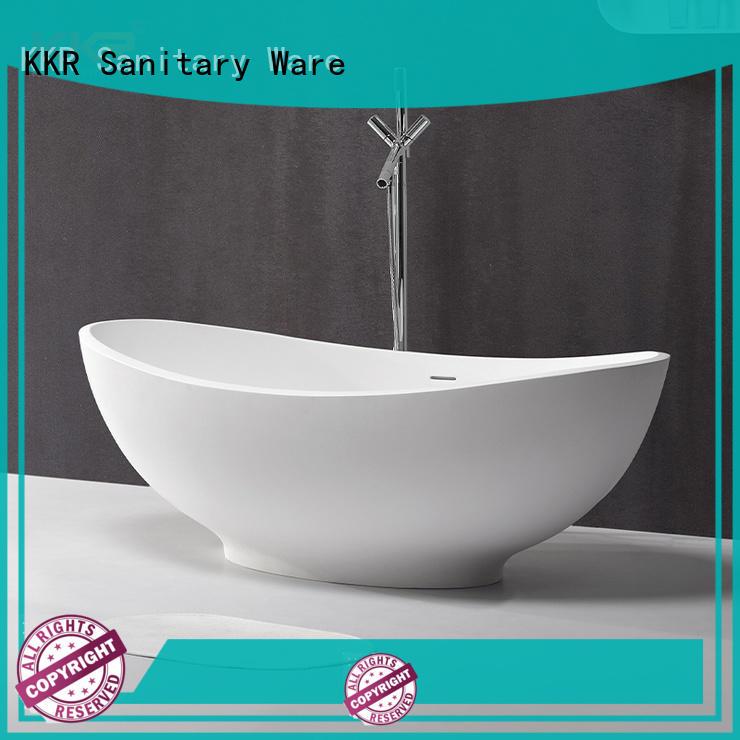 KKR-B089 standing solid surface bath tub factory China manufacture bathtub