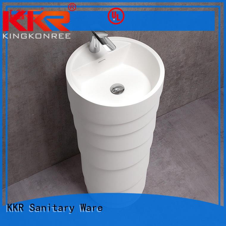 KingKonree solid bathroom sink stand design for motel