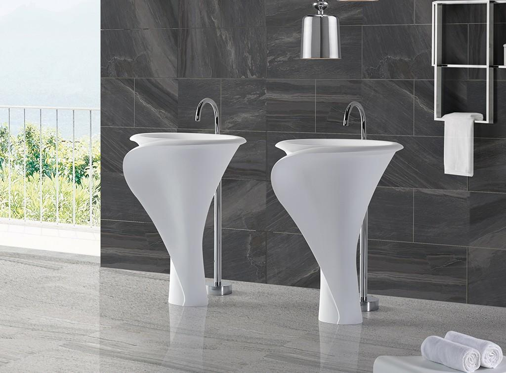 height stand alone bathroom sink customized for bathroom-1