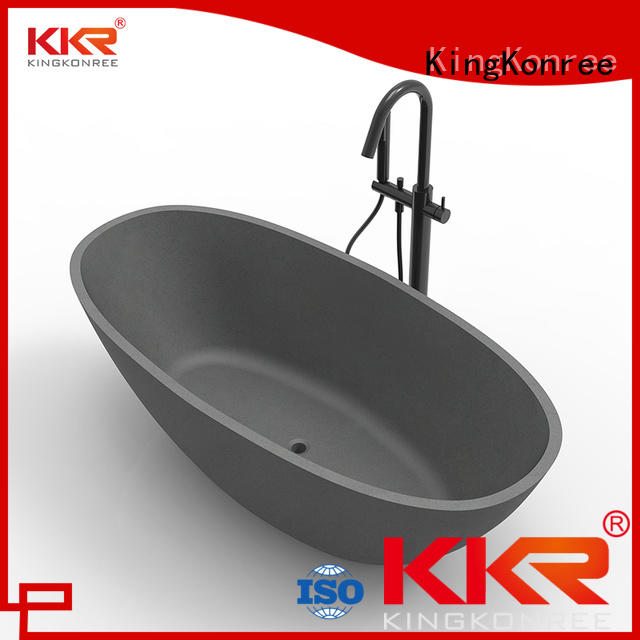 freestanding Solid Surface Freestanding Bathtub selling standing KingKonree Brand