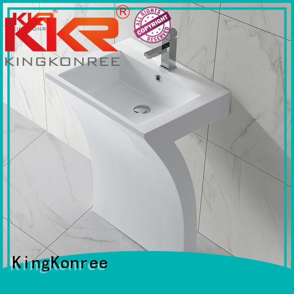 shape free basin KingKonree Brand bathroom free standing basins factory