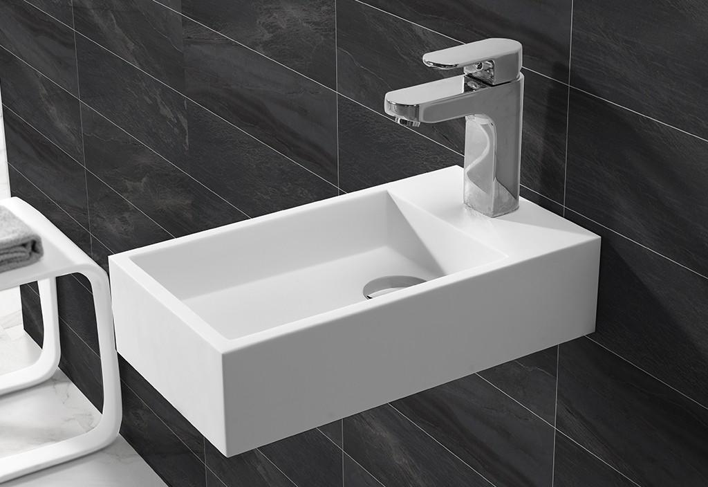 KKR Wholesale Small Size Wall Hung Solid Surface Basin KKR-1105-1