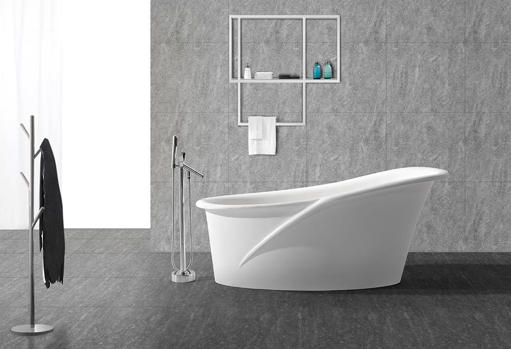 KingKonree stone resin bath custom for family decoration-1