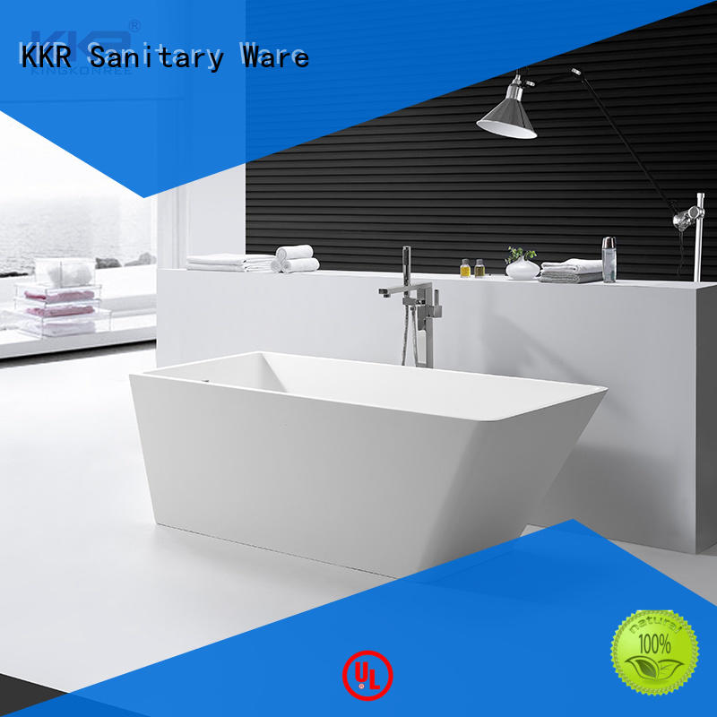 KingKonree marble acrylic freestanding tub at discount