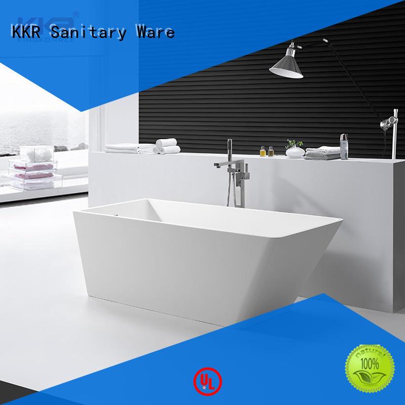 KingKonree marble acrylic freestanding tub at discount