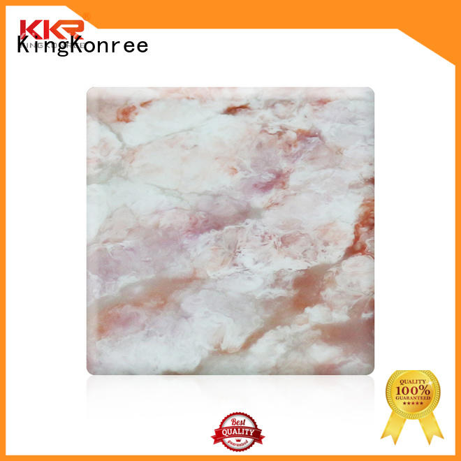 KingKonree artificial solid surface sheets for sale customized for hotel