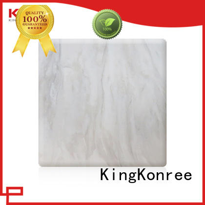 grey acrylic solid surface sheet prices manufacturer for indoors KingKonree