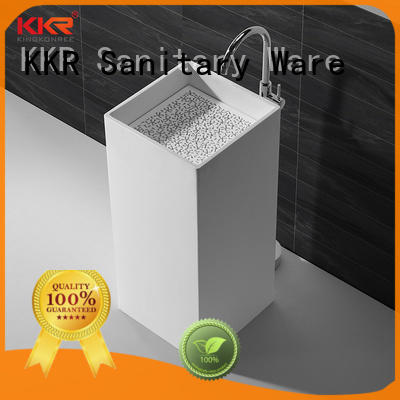 KingKonree rectangle basin stands for bathrooms customized for motel