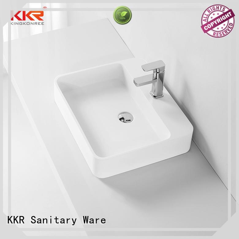 thermoforming small above counter bathroom sinks cheap sample for hotel KingKonree