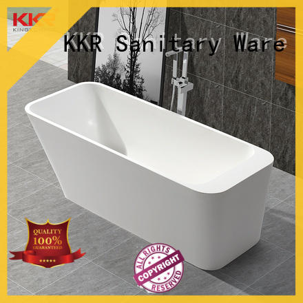 KingKonree marble stand alone soaking bathtubs for shower room